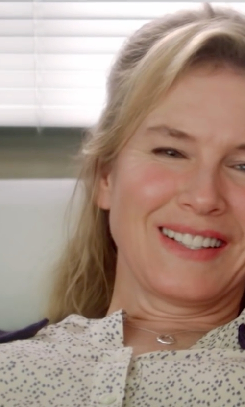 Renée Zellweger with NYDJ 3/4 Sleeve Pleat Back Top in Bridget Jones's Baby