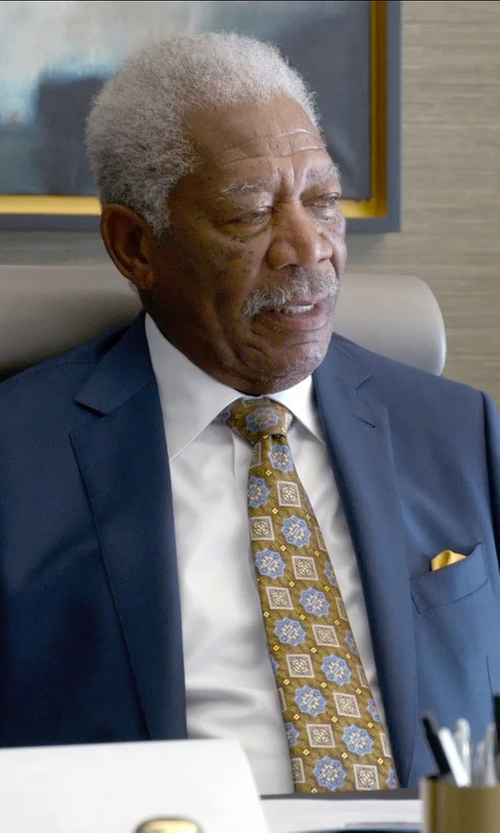 Morgan Freeman with J.Z. Richards Silk Pocket Square in Ted 2
