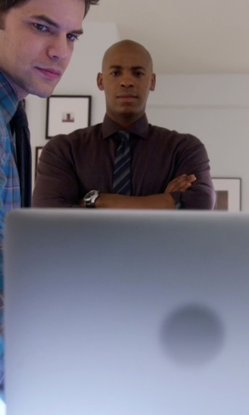 Mehcad Brooks with Victorinox Swiss Army Alliance Stainless Steel Watch in Supergirl