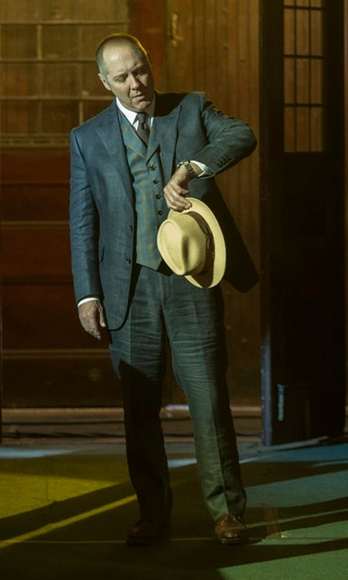 James Spader with To Boot New York Buchanan Leather Derby Shoes in The Blacklist