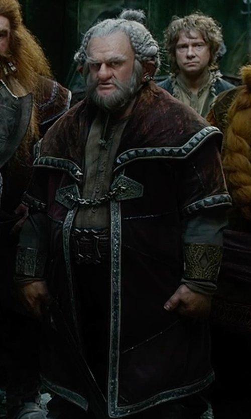Mark Hadlow with Ann Maskrey & Bob Buck (Costume Designer) Custom Design Dori Costume in The Hobbit: The Battle of The Five Armies