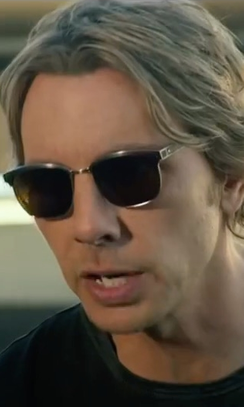 Dax Shepard with Shwood Polarized Rectangle Sunglasses in CHIPs