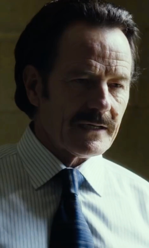 Bryan Cranston with Title Of Work Mixed-Stripe Jacquard Necktie in The Infiltrator