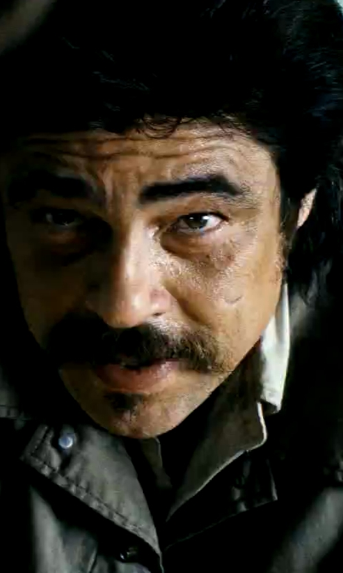 Benicio Del Toro with Save Khaki Shop Jacket in Savages