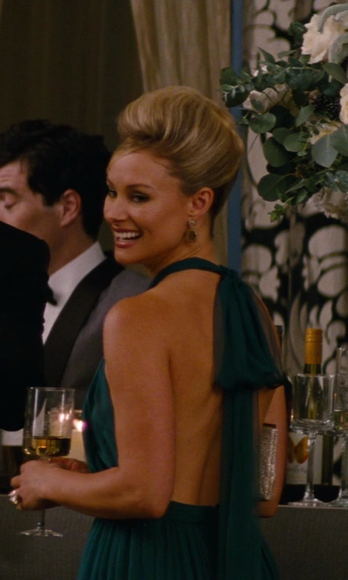 Alyshia Ochse with Saloni Halterneck Flared Gown in The Other Woman