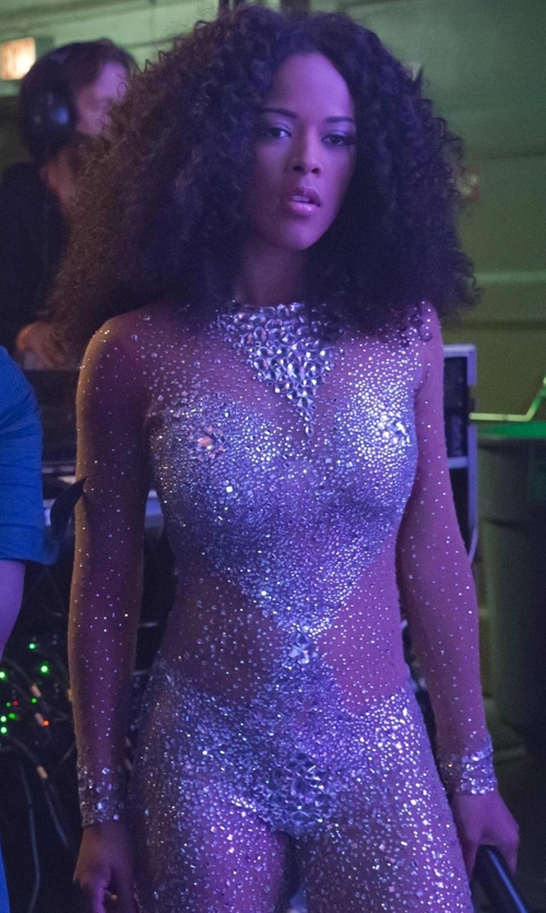 Serayah with DBleuDazzled Embellished Bodysuit in Empire