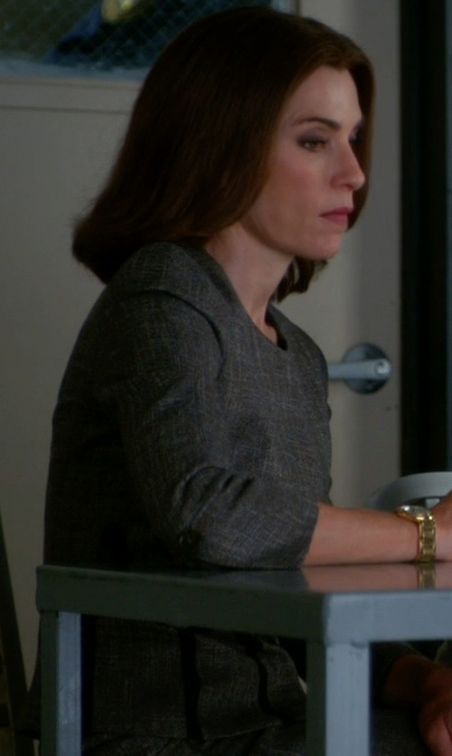Julianna Margulies with Set Tweed Blazer in The Good Wife