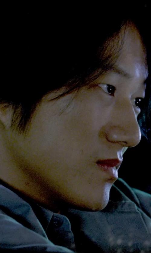 Sung Kang with J. Peterman Short-Sleeve Silk Shirt in Furious 7