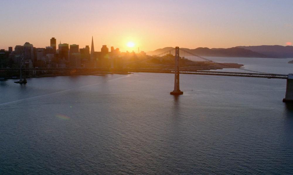 San Francisco Oakland Bay Bridge in Transcendence