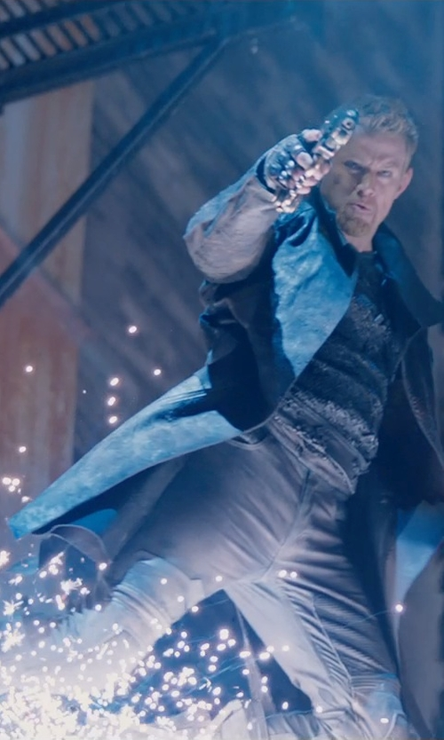 Channing Tatum with Kym Barrett (Costume Designer) Custom Made Caine Pants (Caine) in Jupiter Ascending