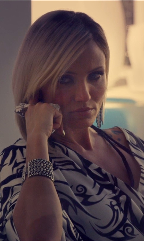 Cameron Diaz with David Yurman Labyrinth Large Ring in The Counselor
