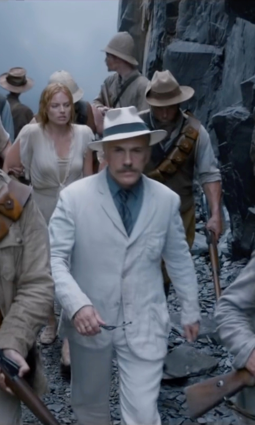 Christoph Waltz with Polo Ralph Lauren English Poplin Solid Dress Shirt in The Legend of Tarzan