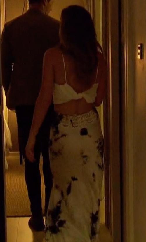 JoJo Fletcher with Michelle Jonas Charmeuse Bias Skirt in The Bachelorette