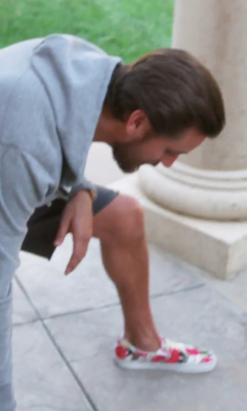 Scott Disick with Vans Classic Slip-On Digi Aloha Skate Shoes in Keeping Up With The Kardashians
