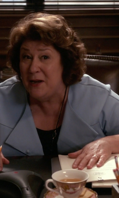 Margo Martindale with Tahari Arthur S. Levine Chambray Blazer in The Good Wife