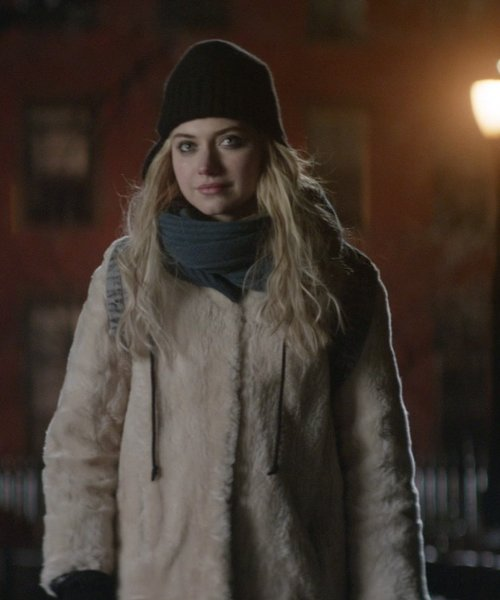 Imogen Poots with Love Token Faux Fur Coat in That Awkward Moment