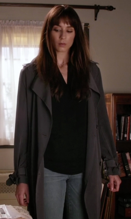 Troian Bellisario with Zara Long Flowing Trench Coat in Pretty Little Liars