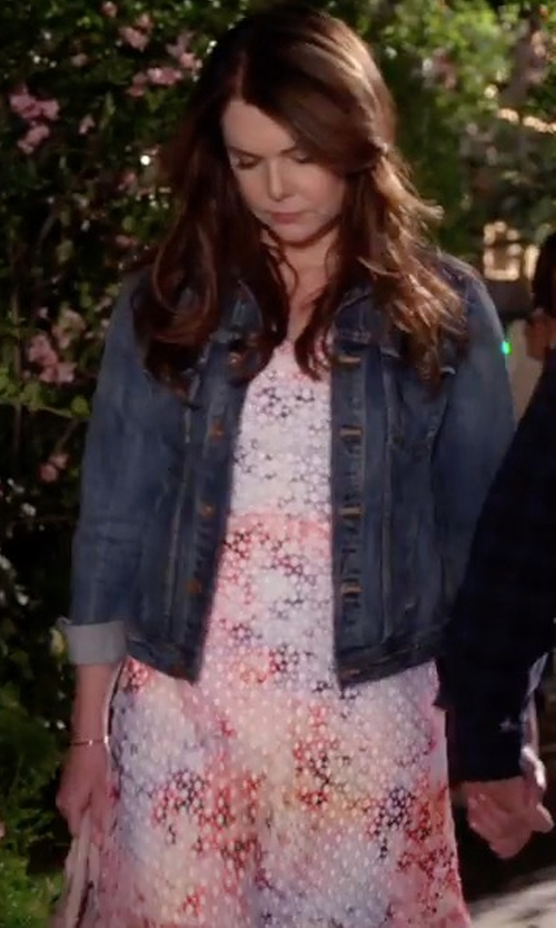 Lauren Graham with Vince Raw-Edge Denim Jacket in Gilmore Girls: A Year in the Life