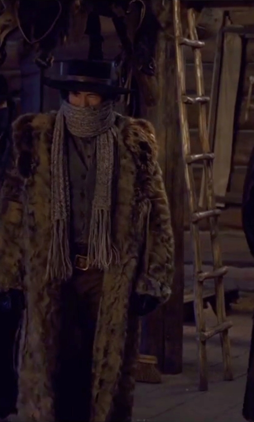 Demian Bichir with Saint Laurent Classic Fedora Hat in The Hateful Eight