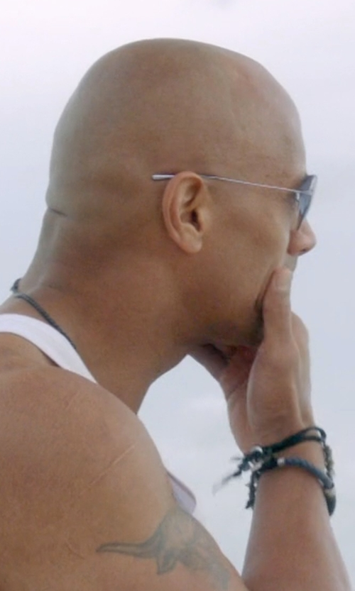 Dwayne Johnson with Simon Carter Tigers Eye Beaded Bracelet in Ballers