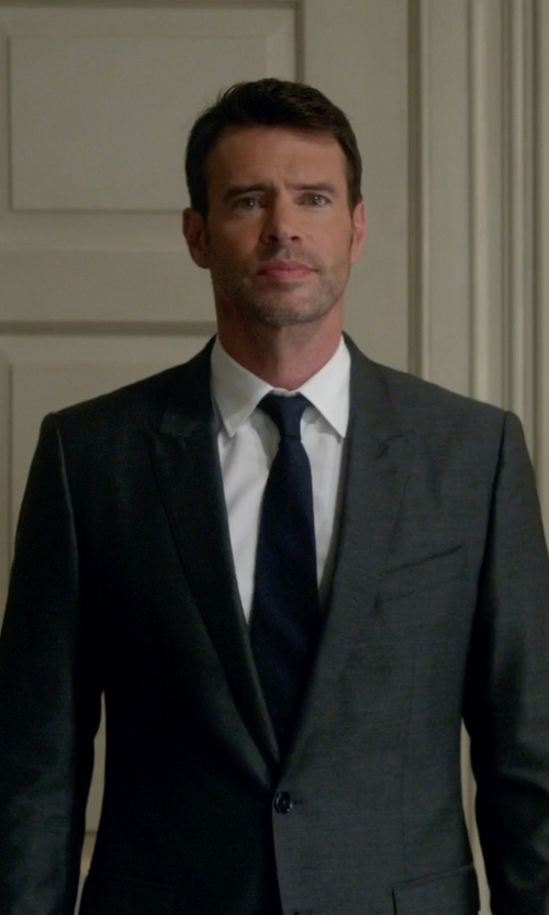 Scott Foley with Boss Hugo Boss Basic Two-Button Suit in Scandal