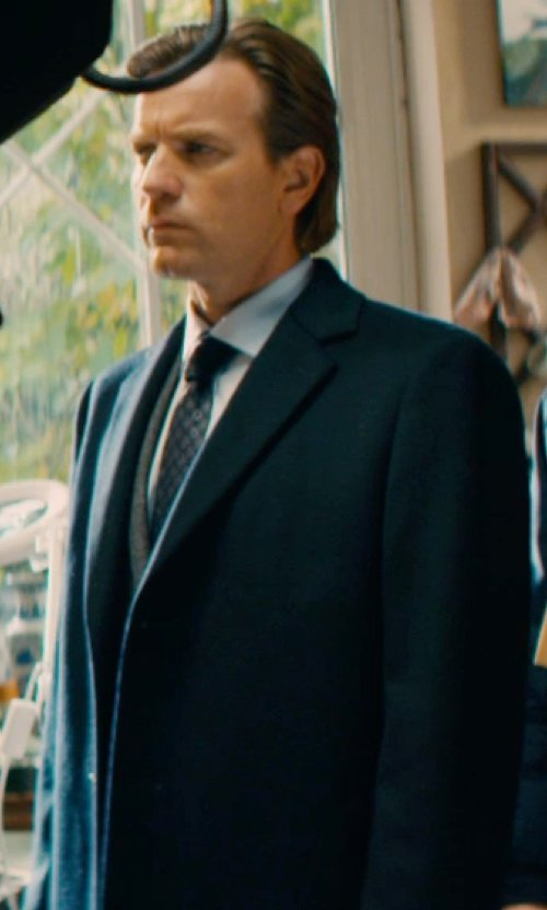 Ewan McGregor with Canali Solid Dress Shirt in Mortdecai