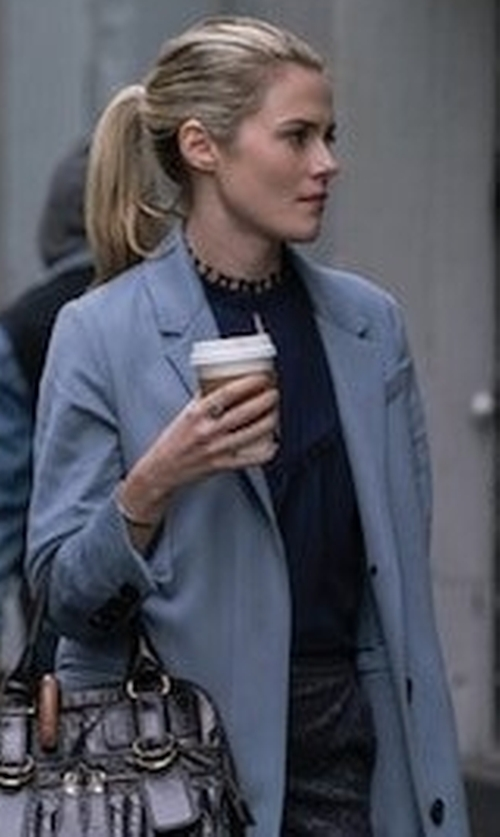 Rachael Taylor with Elie Tahari Wool-Blend One-Button Coat in The Defenders