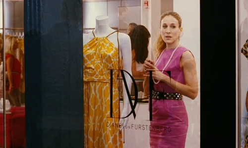 Sarah Jessica Parker with Diane von Furstenberg Boutique New York City, New York in Sex and the City