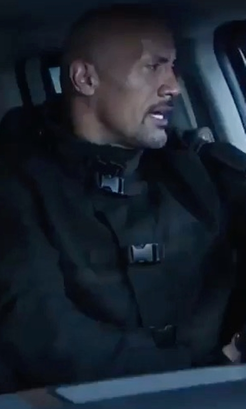 Dwayne Johnson with Under Armour Tactical Signature Bomber Jacket in The Fate of the Furious