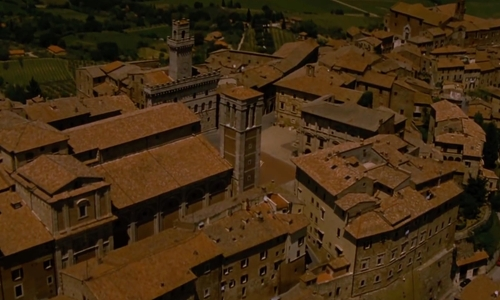 Unknown Actor with Duomo di Montepulciano Southern Tuscany, Italy in The Twilight Saga: Breaking Dawn - Part 2