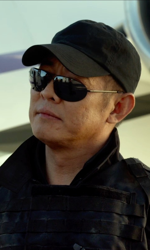 Jet Li with Ray-Ban Tech Carbon Fiber Rectangle Sunglasses in The Expendables 3