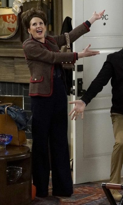 Megan Mullally with Emerson Rose Notch Back Wide Leg Pants in Will & Grace