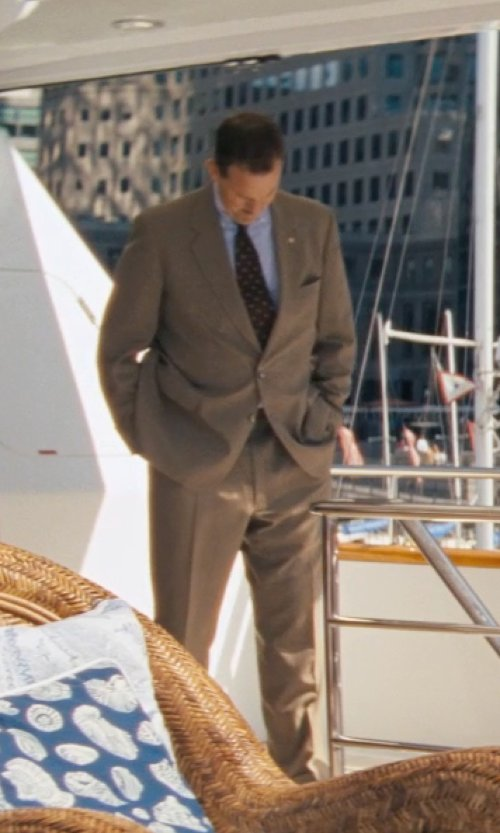 Ted Griffin (III) with Neiman Marcus Wool Twill Modern-Fit Suit, Taupe in The Wolf of Wall Street