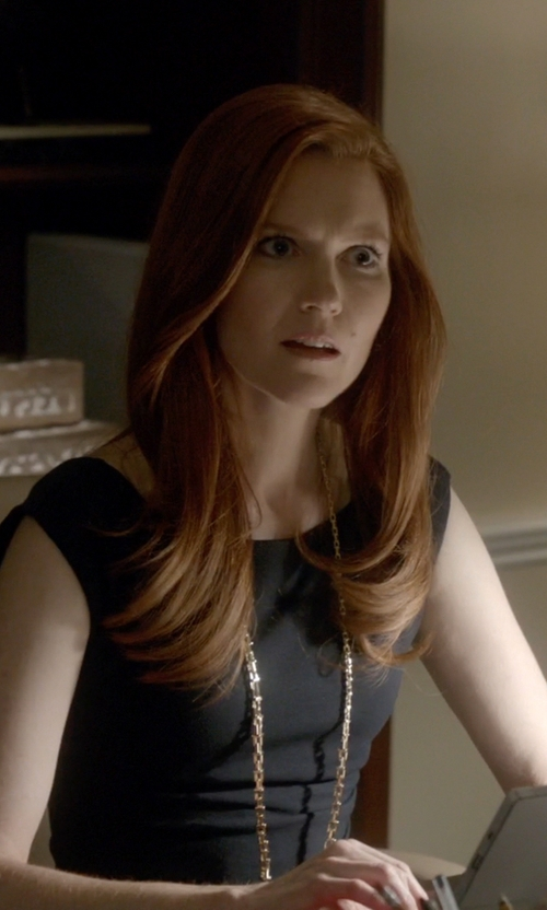 Darby Stanchfield with Diane von Furstenberg Jori Dress in Scandal