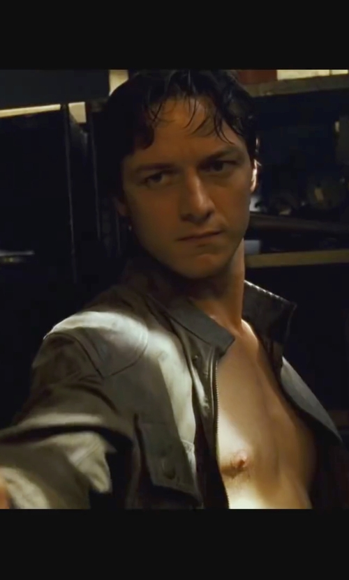 James McAvoy with Belstaff Cougar Blouson Jacket in Wanted