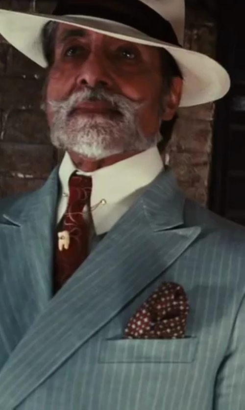 Amitabh Bachchan with Alexander Olch Woven Herringbone Tie in The Great Gatsby