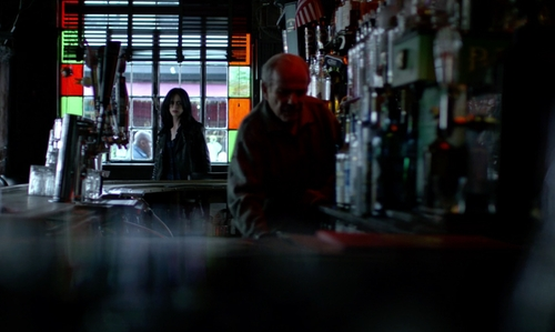 Krysten Ritter with Vazac's Horseshoe Bar New York City, New York in Jessica Jones