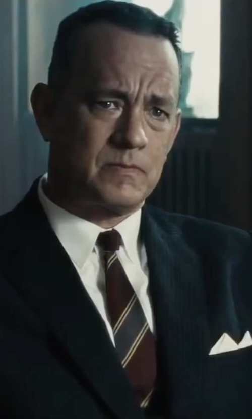 Tom Hanks with Polo Ralph Lauren Irish Linen Pocket Square in Bridge of Spies