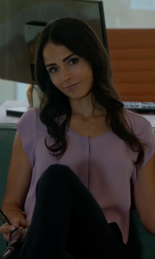 Jordana Brewster with Joie  'Iva' Silk Blouse in Lethal Weapon