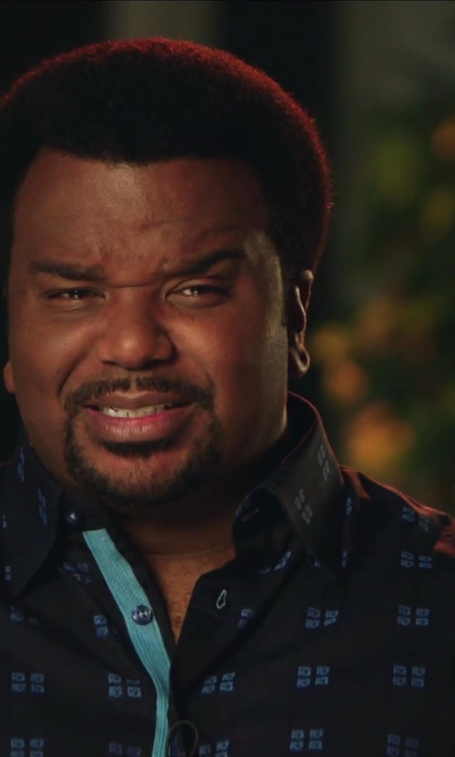 Craig Robinson with Woodwood Two Tone Pattern Shirt in Hot Tub Time Machine 2
