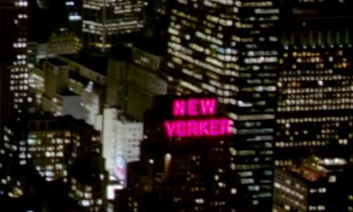 Unknown Actor with The New Yorker Building New York City, New York in Top Five