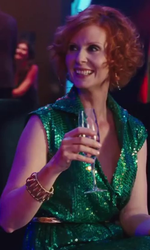 Cynthia Nixon with The Fifth Season by Roberto Coin 18k Gold over Sterling Silver Bracelet in Sex and the City 2