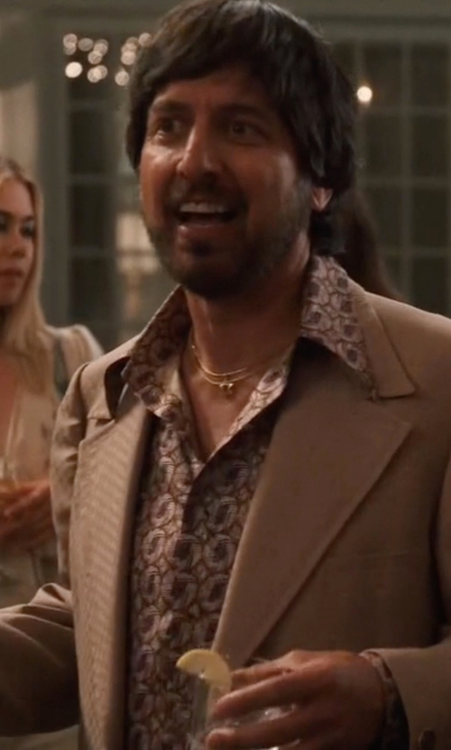 Ray Romano with Aglini Printed Shirt in Vinyl