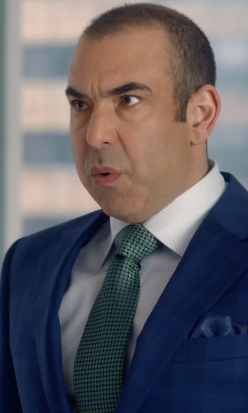 Rick Hoffman with Tommy Hilfiger Square Neat Tie in Suits