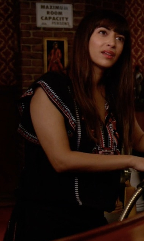 Hannah Simone with Parker Dean Dress in New Girl