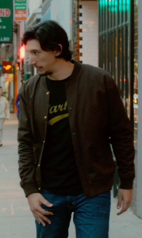 Adam Driver with Forever 21 Everyday Bomber Jacket in What If