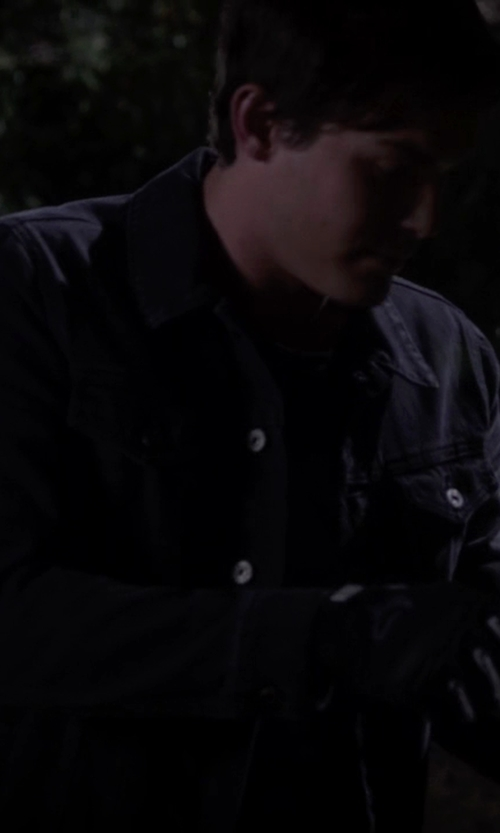 Tyler Blackburn with Topman Denim Jacket in Pretty Little Liars