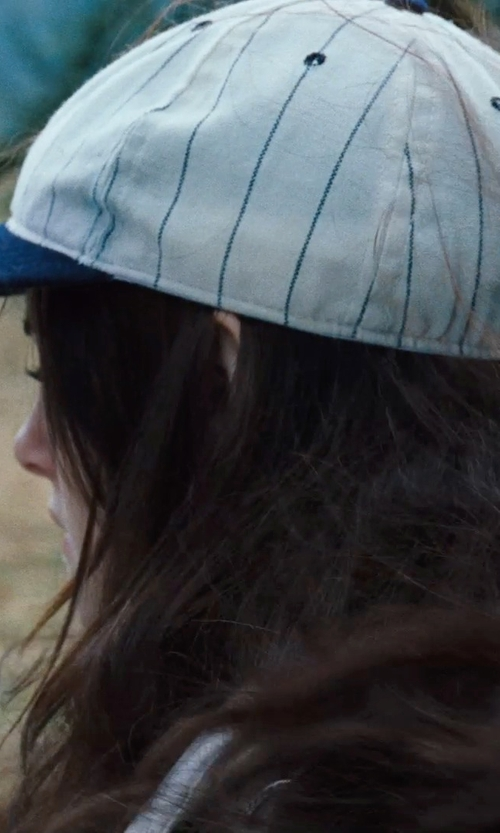 Kristen Stewart with Teamwork Pinstripe Baseball Cap in Twilight