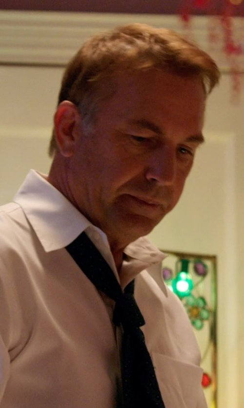 Kevin Costner with Ralph Lauren Polka-Dot Peau De Soie Tie in Black or White