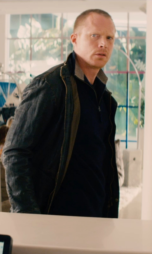 Paul Bettany with Lacoste Half-Zip Pullover Sweatshirt in Mortdecai